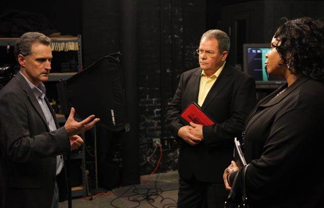 John Gordon, Digital Media Services Manager, guides guests through the DELTA Studio at Park Shops tour